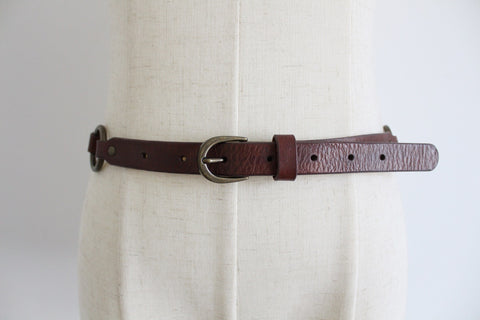 OLD KHAKI GENUINE LEATHER BROWN BRAIDED BELT