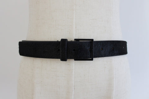 COUNTRY ROAD GENUINE COWHIDE LEATHER BLACK BELT