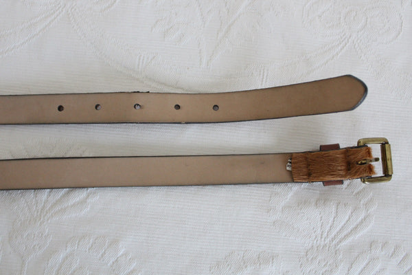 COUNTRY ROAD GENUINE COWHIDE LEATHER TAN BELT