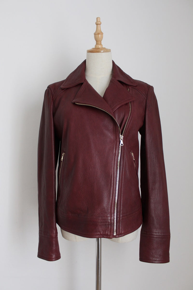 MASSIMO DUTTI DESIGNER LEATHER JACKET - SIZE 8/10