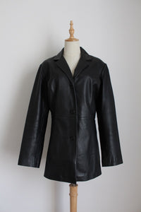 GENUINE LEATHER VINTAGE NINA & NUCCI COAT - SIZE 14