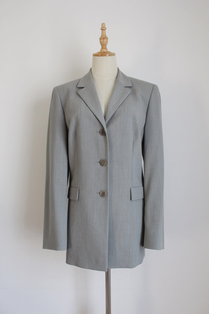 BETTY BARCLAY VINTAGE GREY BLAZER - SIZE 12