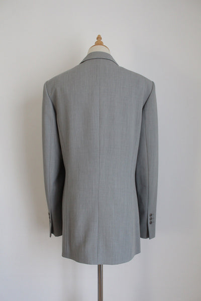 BETTY BARCLAY VINTAGE GREY WOOL BLAZER - SIZE 12