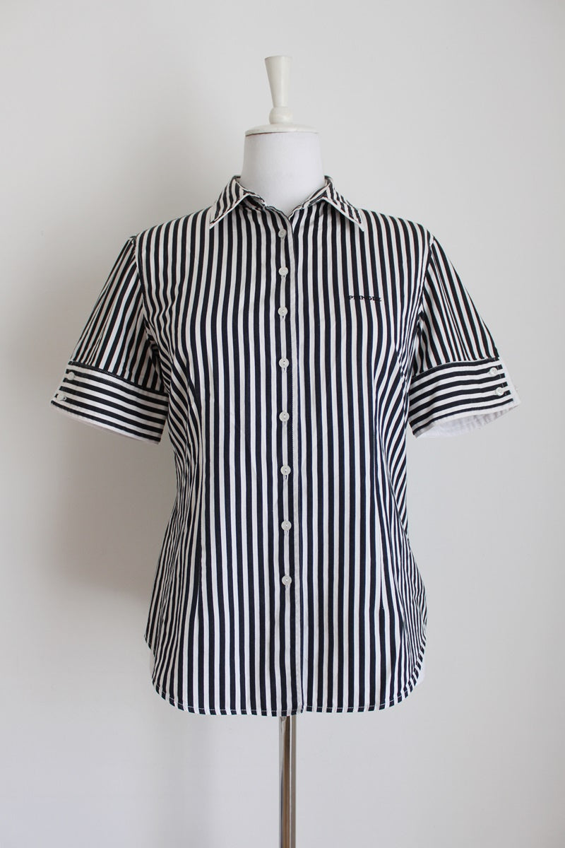 PRINGLE OF SCOTLAND STRIPED SHIRT - SIZE 10