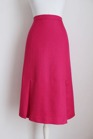 VINTAGE HOT PINK A-LINE PENCIL SKIRT - SIZE 14