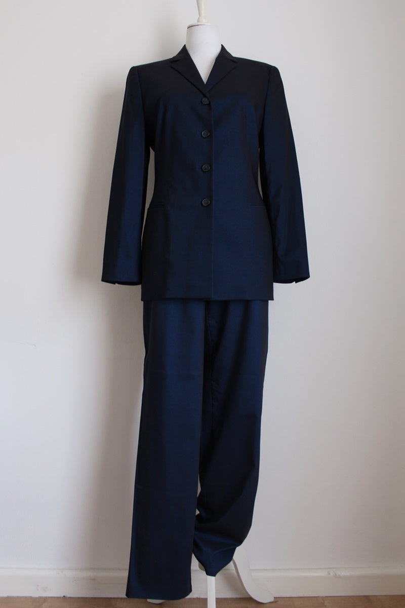 LAUREL DESIGNER VINTAGE BLUE PANTS SUIT - SIZE 12