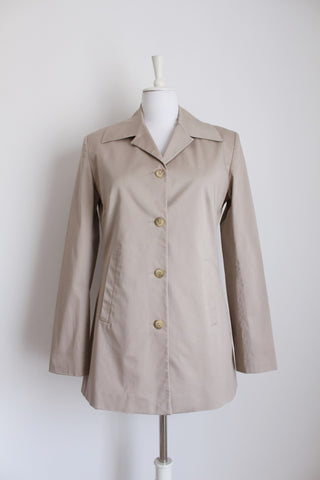 JENNI BUTTON DESIGNER STONE COAT - SIZE 12