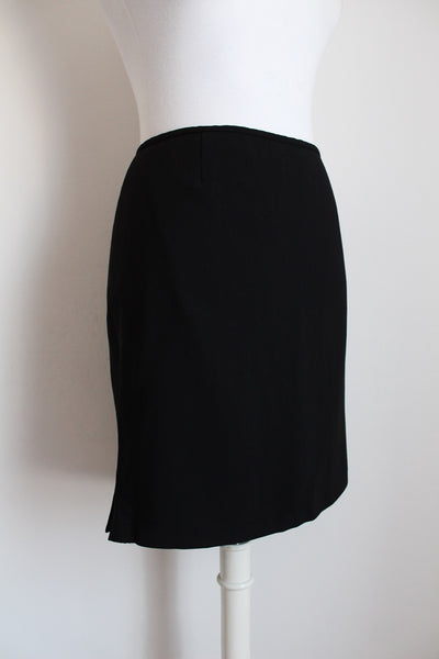 EMPORIO ARMANI BLACK FITTED SKIRT - SIZE 12