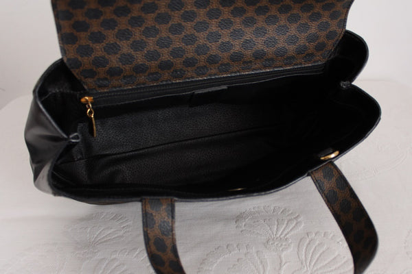 CELINE PARIS DESIGNER VINTAGE CANVAS HANDBAG