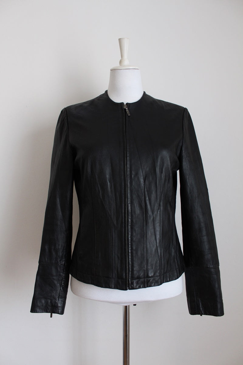 GENUINE LEATHER DAVID CONRAD JACKET - SIZE 10
