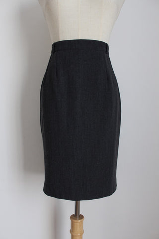GREGORY PAT PARIS VINTAGE WOOL GREY SKIRT - SIZE 6