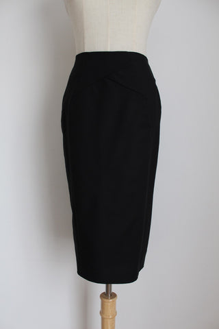 STUDIO W BLACK PANELED PENCIL SKIRT - SIZE 6