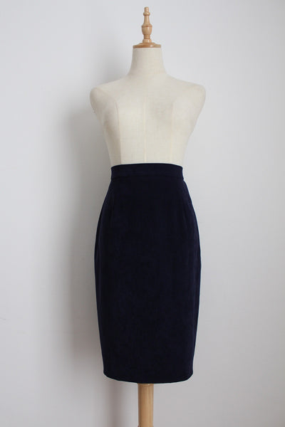 VINTAGE KELLY GRAHAM NEW YORK NAVY SKIRT - SIZE 10