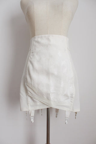 VINTAGE WHITE GIRDLE WITH SUSPENDERS - SIZE 16