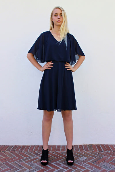 THE HOPE DRESS - NAVY