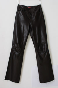 GENUINE LEATHER MONSOON BOOTLEG TROUSERS - SIZE 8