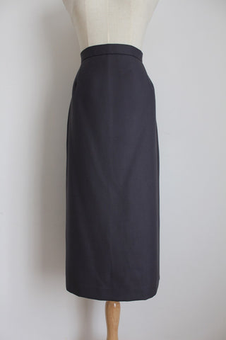 CARDUCCI VINTAGE GREY WOOL BLEND PENCIL SKIRT - SIZE 12