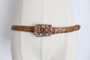 GENUINE SNAKE SKIN VINTAGE HAND MADE BELT
