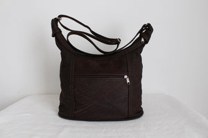 NEW GENUINE LEATHER COCOA SLING HANDBAG - CAPE TOWN