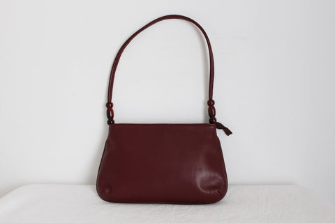 GENUINE LEATHER BURGUNDY SHOULDER BAG