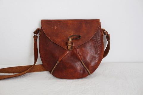 VINTAGE GENUINE LEATHER HAND CRAFTED SLING BAG