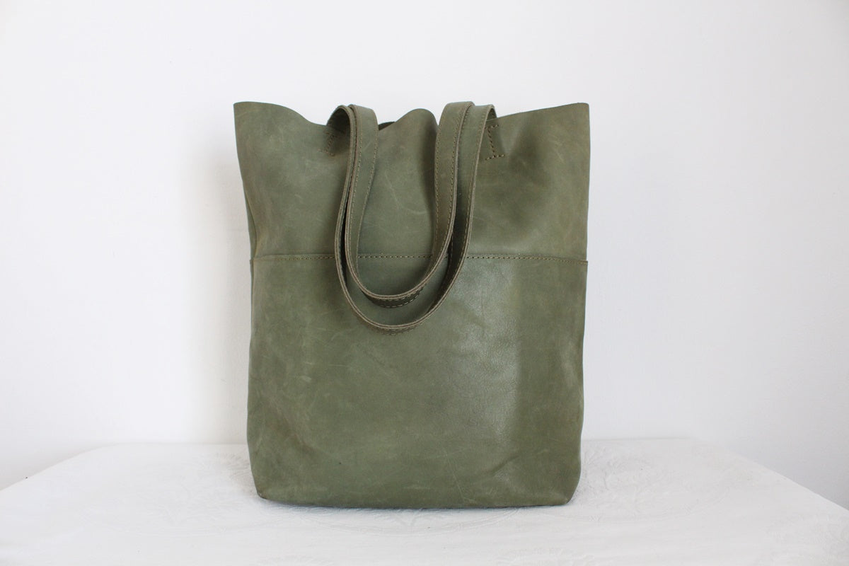 FSP COLLECTION GENUINE LEATHER LARGE TOTE