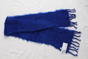 BABY MO 100% MOHAIR WOOL SCARF BLUE