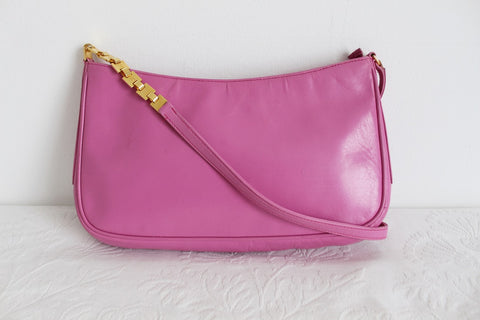 *LORENZI* DESIGNER GENUINE LEATHER PINK SHOULDER BAG