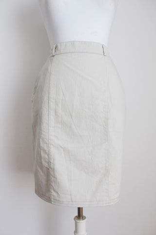 VINTAGE STONE FITTED PENCIL SKIRT - SIZE 8