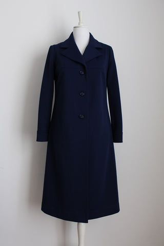 VINTAGE NAVY BLUE COAT - SIZE 14