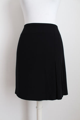 HABITS DESIGNER BLACK PLEATED SKIRT - SIZE 14