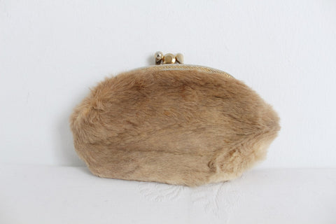 *GENUINE KANGAROO FUR* VINTAGE LEATHER COIN PURSE