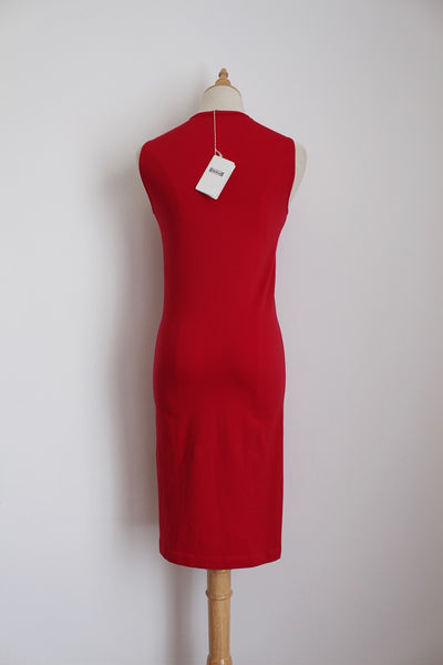 WOLFORD RED BODYCON DRESS - SIZE S