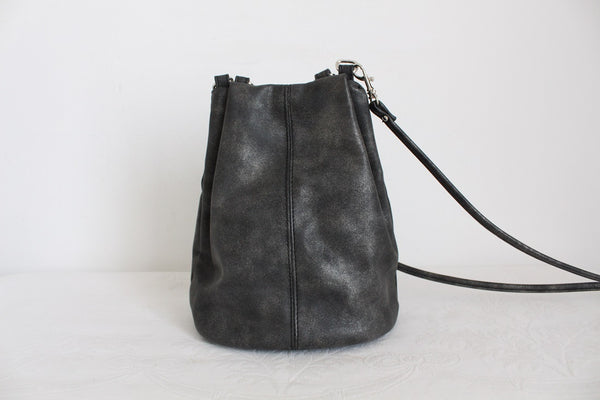 LASTER GREY FAUX LEATHER SLING BAG