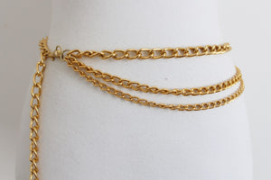 VINTAGE GOLD TONE CHAIN COSTUME BELT