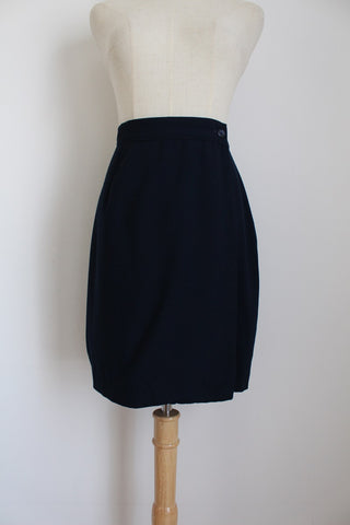 VINTAGE UNITED COLORS OF BENETTON WRAP SKIRT - SIZE 8