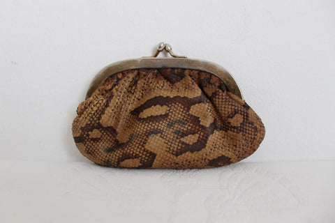 VINTAGE GENUINE SNAKE SKIN COIN PURSE