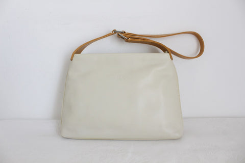 DILUCIO DESIGNER GENUINE LEATHER BEIGE HANDBAG