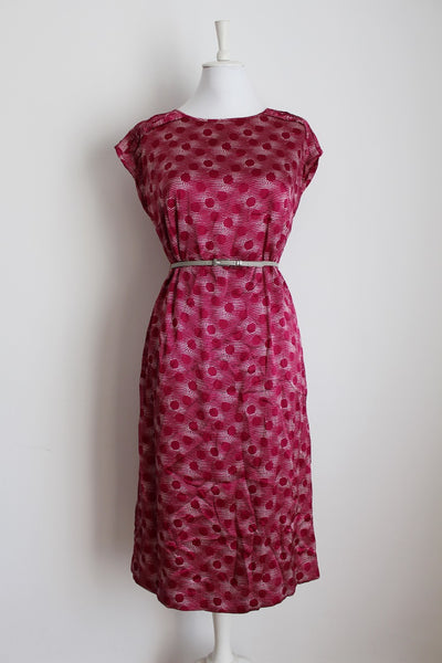 VINTAGE BERRY SPOTTED DRESS TOP TWO PIECE SET - SIZE 12