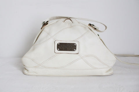 VINTAGE GENUINE LEATHER WHITE DOCTORS STYLE SLING BAG