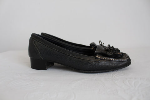 PASCUCCI VINTAGE GENUINE LEATHER LOAFERS - SIZE 6