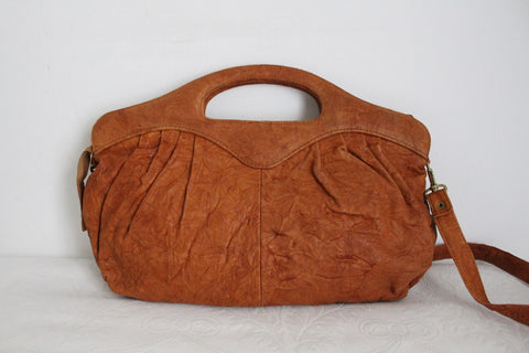 VINTAGE GENUINE LEATHER TAN SLING BAG