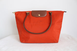 LONGCHAMP DESIGNER LE PLIAGE SHOPPING BAG ORANGE