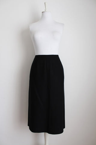 VINTAGE BLACK SIMPLE STRAIGHT PENCIL SKIRT - SIZE 12