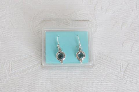 STERLING SILVER LOVISA BLUE DROP EARRINGS