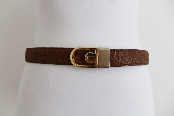 *GENUINE AFRICAN BUFFALO SKIN* VINTAGE REVERSIBLE BELT