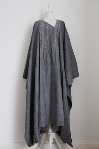 VINTAGE EASTERN EMBROIDERY GREY KAFTAN - ONE SIZE