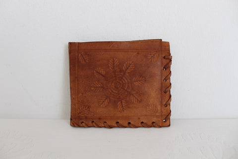 GENUINE LEATHER VINTAGE STYLE BROWN HAND STITCHED WALLET