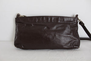VINTAGE BROWN GENUINE LEATHER SHOULDER BAG