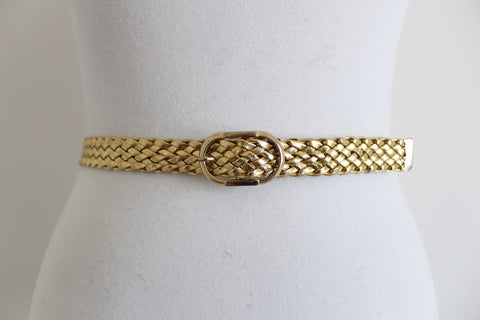 VINTAGE GOLD BRAIDED WOVEN BELT